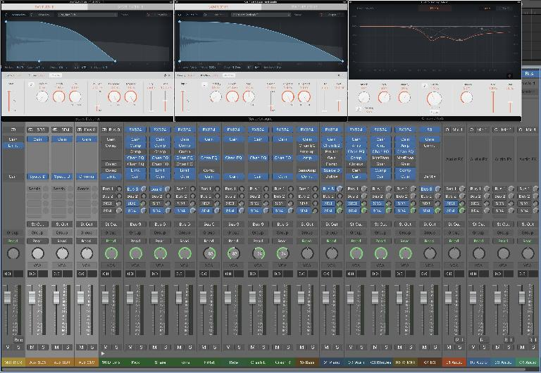A mix with several reverbs in use