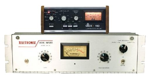 Fig 4  A fast comp/limiter (dbx 160), good for recording; a more gentle opto compressor (LA-2A), good for mixing.