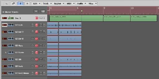 Recording multi tracks from EZDrummer!