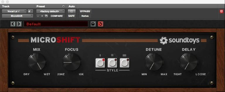 Fig 2 Soundtoys' MicroShift