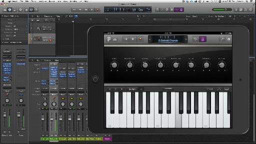 Controlling Logic Pro X from an iPad with no noticeable latency…