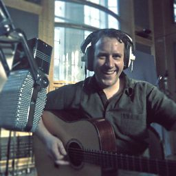 Toby Pitman in the studio