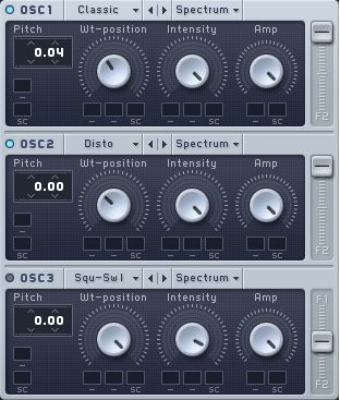 The Oscillator Settings.