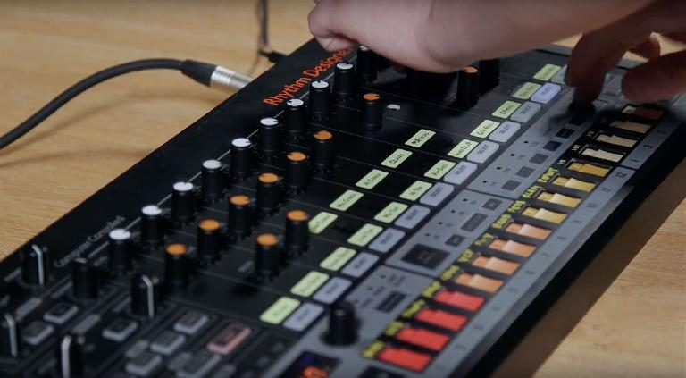 Behringer RD-808 is an analog clone of the classic Roland TR-808 drum machine.