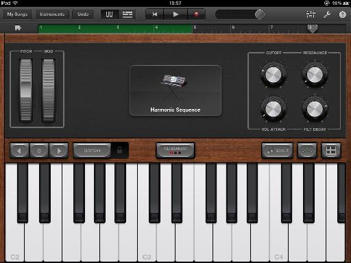 Use the metronome to help you sync the iPad to DAW on your Mac