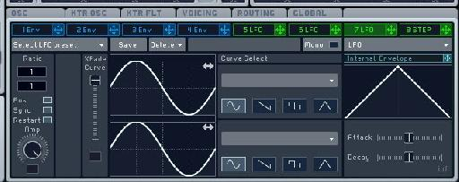 The second LFO used to add variation