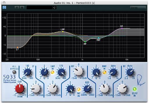 RND Portico EQ plug-in