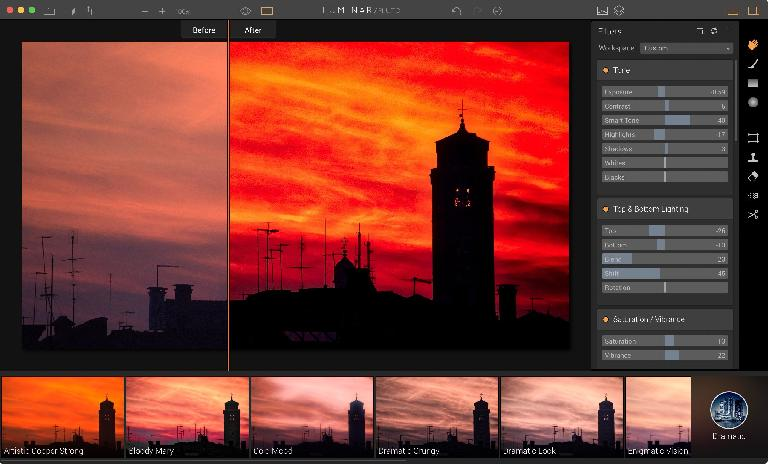 A Venetian sunset with a dash of Curves and a hint of Orton and the Before/After slider to show the change