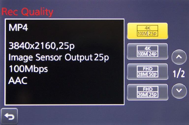 4K 100Mbps is the way to go for best quality at moderate file sizes