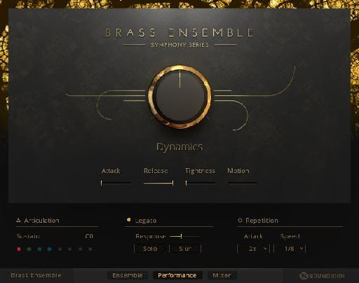 NI Symphony Series - Brass Ensemble main screen.