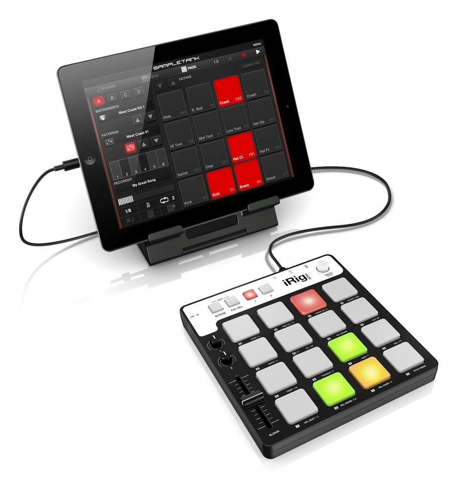 iRig Pads with iPad.