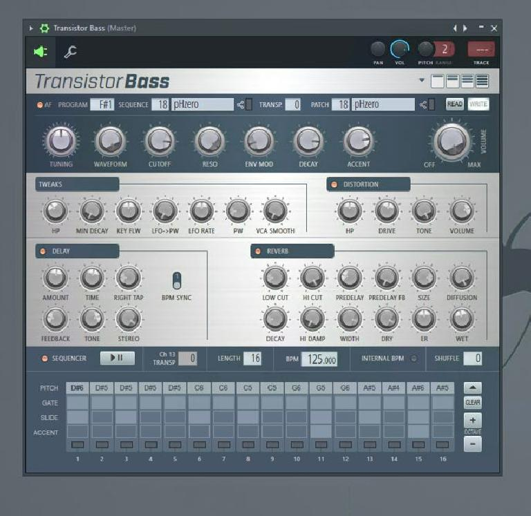 Transistor Bass UI