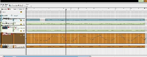 The panning on the second sound is automated with exactly the opposite values