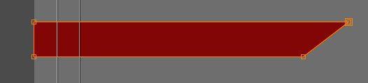 The lower-third now has an angled edge
