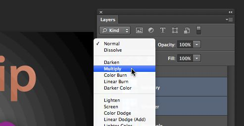 Assigning blending to multiple layers