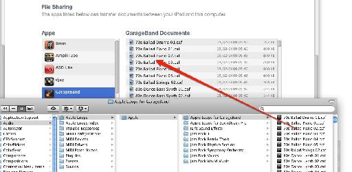 Importing Apple Loops to GarageBand documents in iTunes File Sharing area