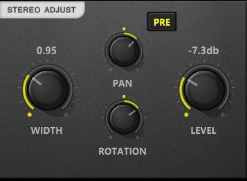 stereo adjust module