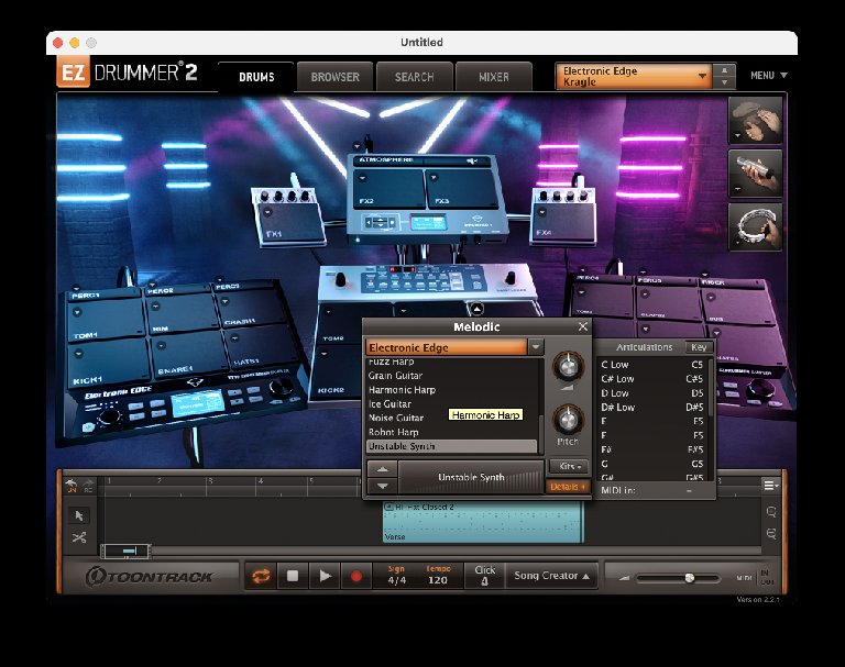 Toontrack EZDrummer Electronic Edge Expansion 2