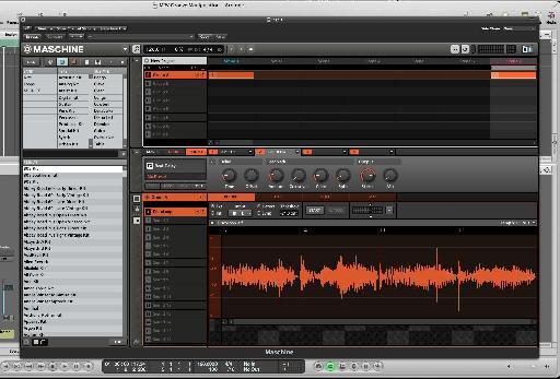 Maschine's audio editor