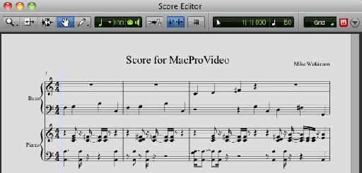 Pro Tools' Score Editor