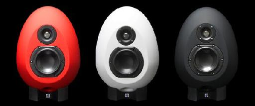 Three Color Sonic Munro Egg 100s: red, white and black.