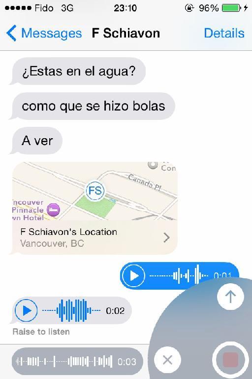 Sending Audio Messages.