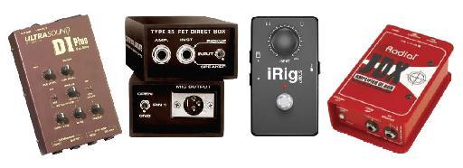 Figure 3 Various DI Boxes for Guitar.