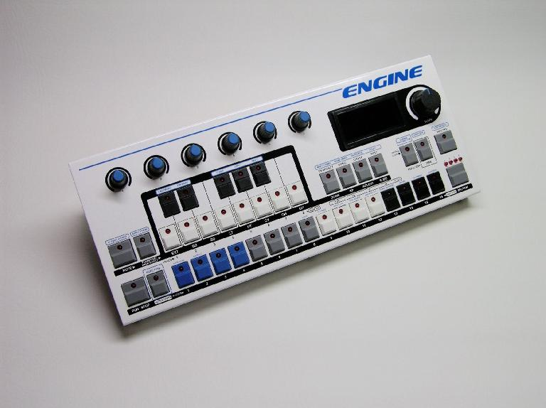 Social Entropy Engine hardware sequencer in Blue