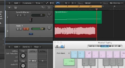 Bliss! You're in Logic Pro X and you're now able to play your 32-bit synths, record the patterns as MIDI and record as audio.