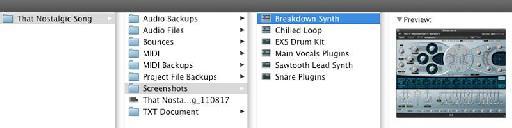 Folder arrangement