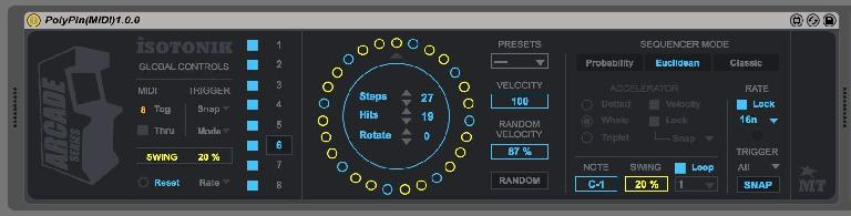 PIC 1: PolyPin's Euclidean sequencer.
