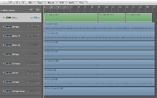 The MIDI Performance and audio tracks recorded separately!