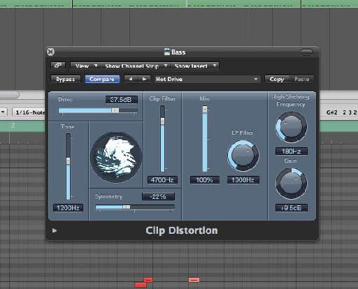 Clip Distortion plugin.