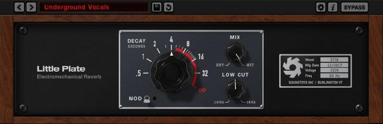 Soundtoys Little Plate reverb plugin