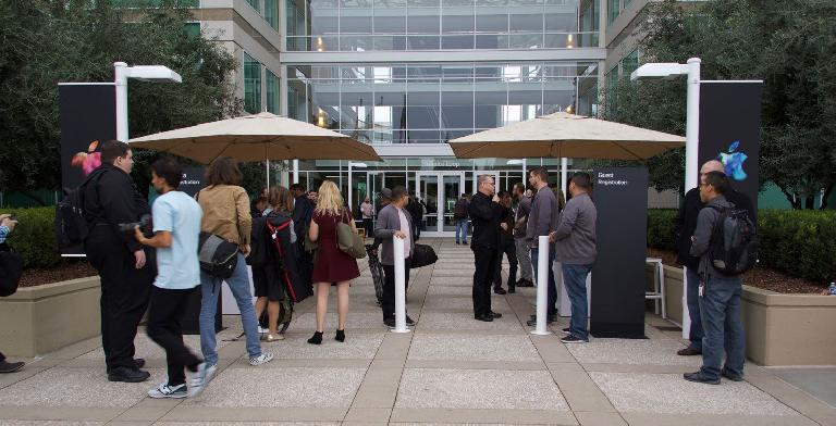 The day of the product launch at Apple