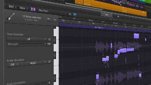Flex Pitch is one of the major new features in Logic Pro X.