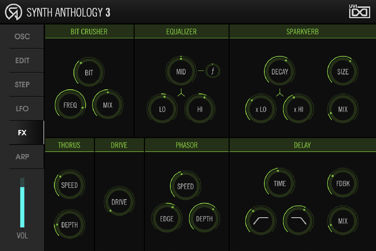 Synth Anthology 3 FX page