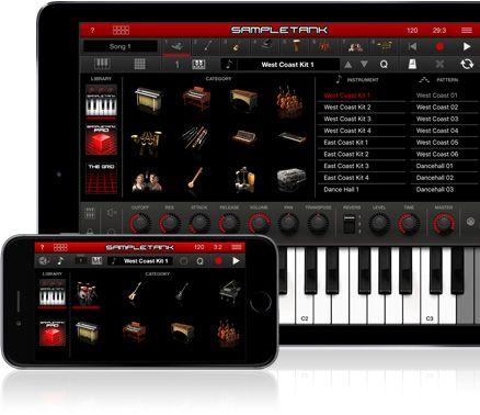 SampleTank on iPad and iPhone
