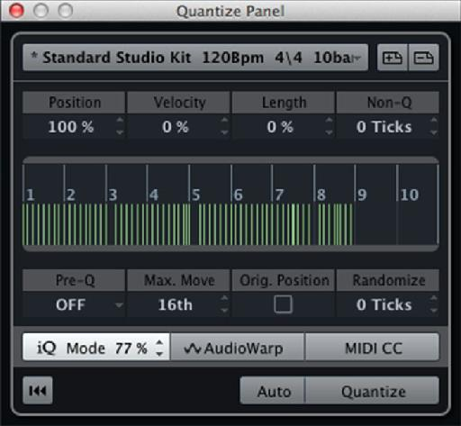 Figure 5: Groove Preset created and named as per the source event.