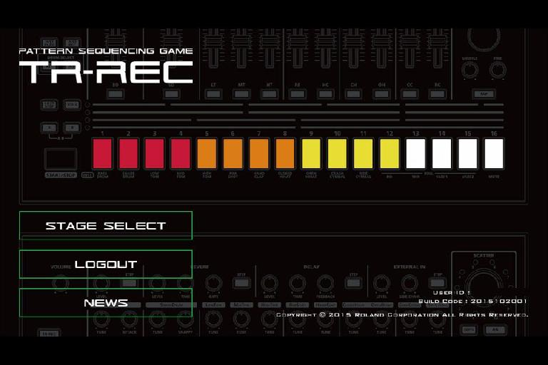 Welcome to the Roland TR-REC game app.