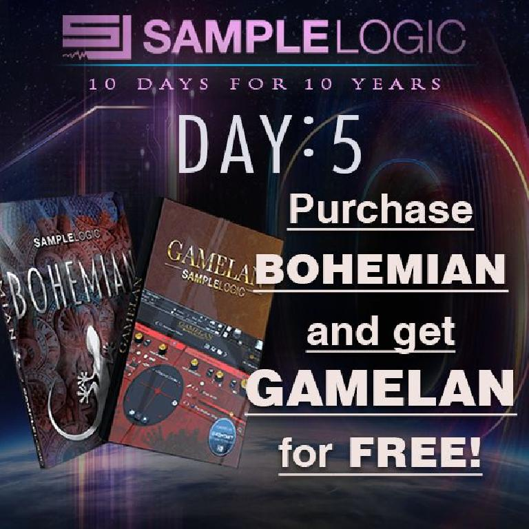 Sample Logic Gamelan and Bohemian sale