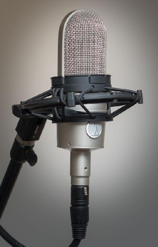 Figure 3. The Audio-Technica AT4080 with included shock mount.