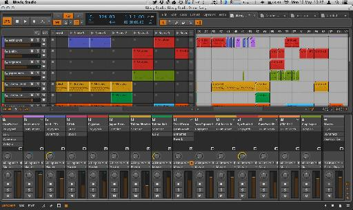 It's easy to switch between projects in Bitwig.
