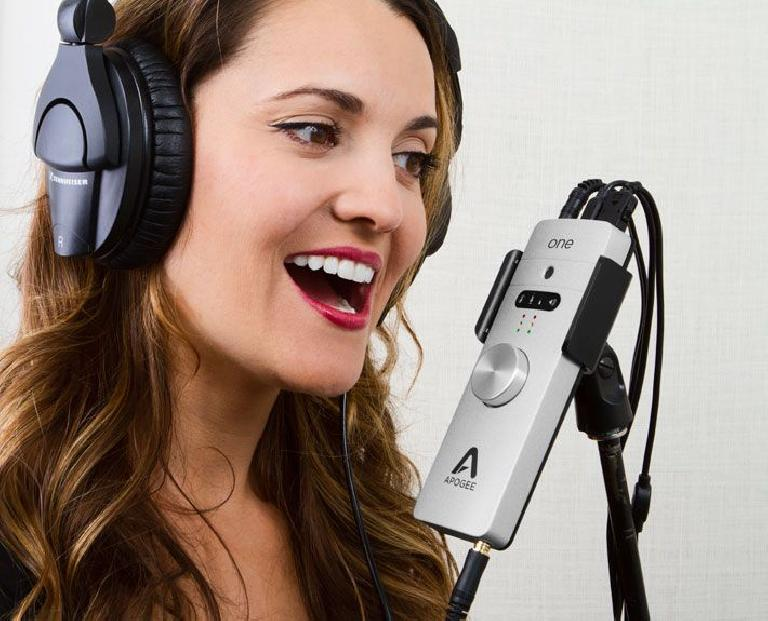 The new Apogee ONE for Mac includes a built-in microphone.