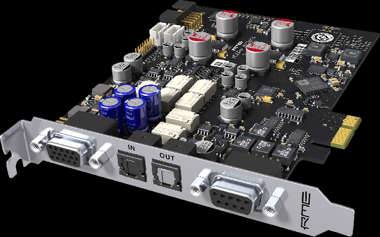 RME HDSPe AIO Pro PCI Express Interface Card.