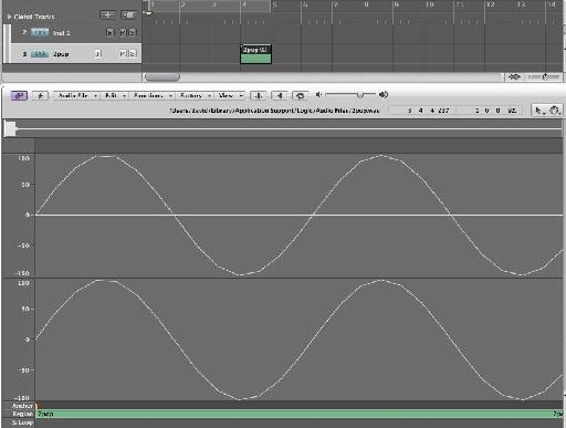 Line up start point with waveform