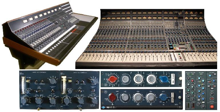 Classic Neve consoles and software emulations