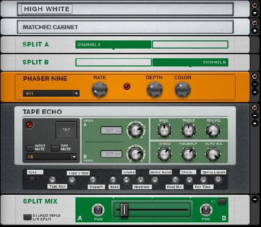 Creating a multi-effects chain