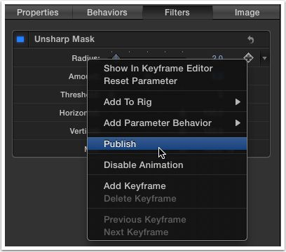 Remember, right-click on the name of the parameter.