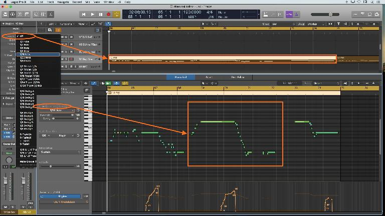 Complementary Quantize options in the Region Inspector and Piano Roll Inspector